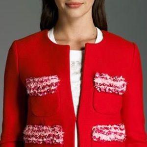 J. Crew Wool Astrid Liberty Floral Ruffle Jacket